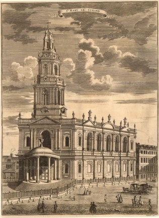 "John Stowe, St. Mary le Strand, 1754. An original black and white copper-engraving. 14"" x 18"". £POA"