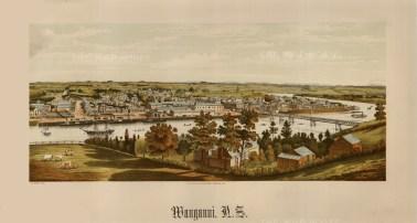"Edward Wakefield, 'Wanganni', 1880. An original chrom-lithograph. 10"" x 17"". £POA."