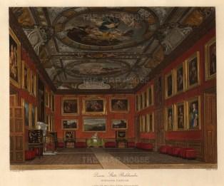 "Pyne, 'Windsor Castle, Queen's State Bedchamber', 1818. An original colour aquatint. 8"" x 10"". £POA"