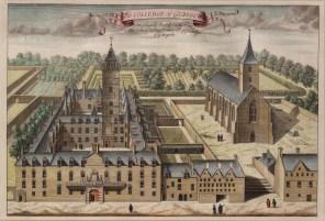 "Anon, 'College of Glasgow', 1730. A hand-coloured original copper-engraving. 12"" x 17"". £POA."