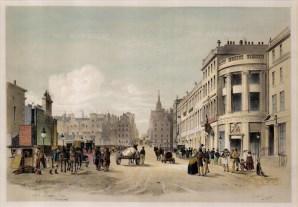"Samuel Swarbreck, 'North Bridge Street', Edinburgh, 1837. A hand-coloured original lithograph. 12"" x 16"". £POA."