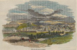 The Illustrated London News: Tunisa. 1857. A hand-coloured original wood-engraving. 9 x 6 inches. [AFRp1263]