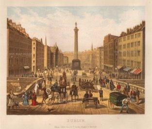 Collins: Dublin. Circa 1890. An original antique chromo-lithograph. 10 x 9 inches.[IREp641]