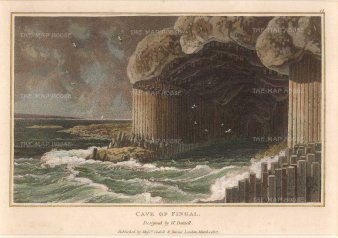 Daniell: Fingal, Leinster. circa 1807. A hand-coloured original antique aquatint. 8 x 5 inches. [IREp664]