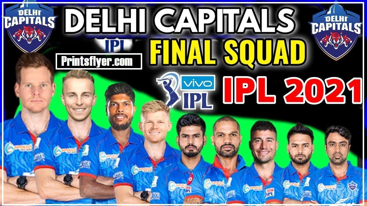 Delhi Capitals Team 2021 Players List