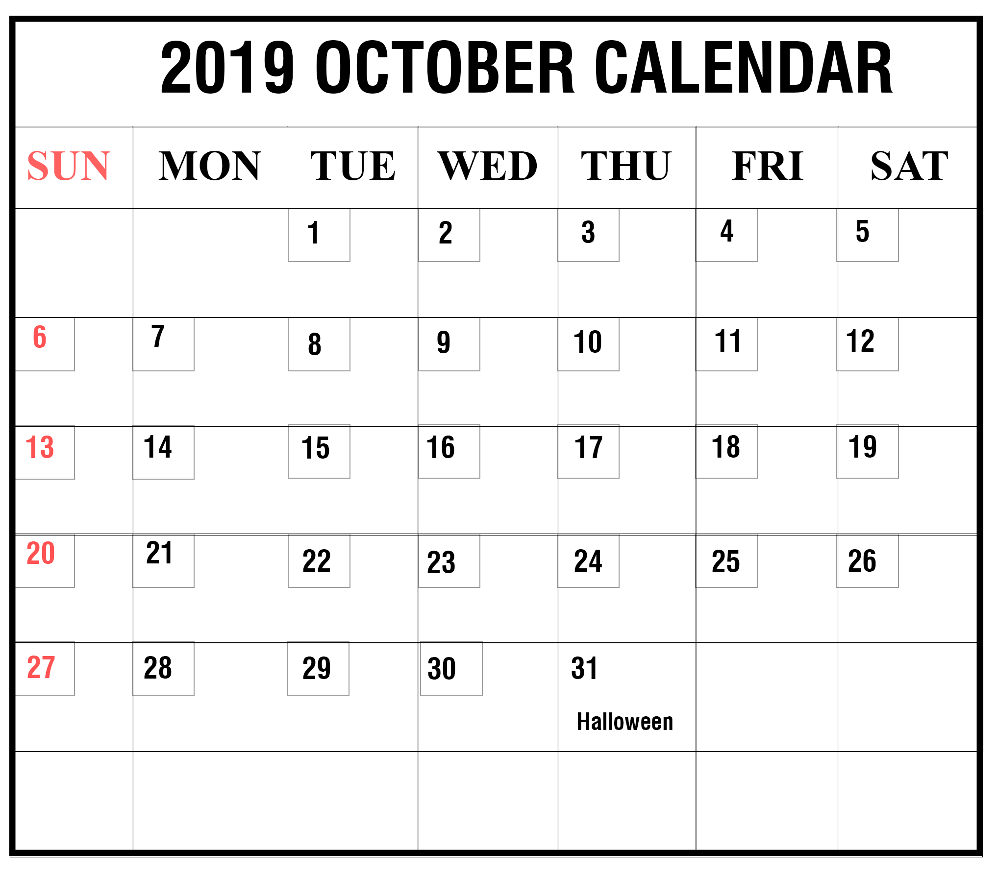 Free October November 2019 Printable Calendar With Holidays Pdf Word Excel Printable Template Calendar