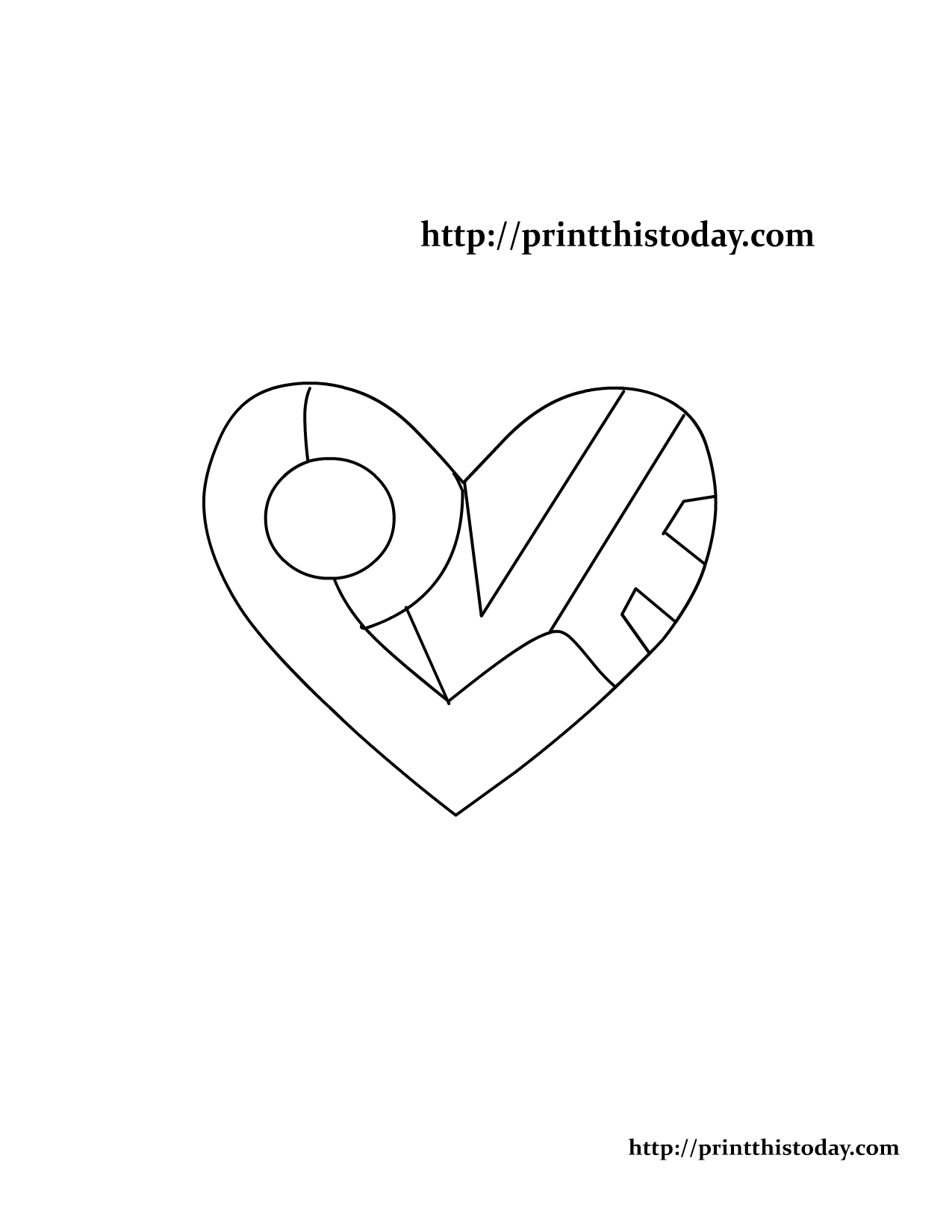 on this cute free printable love themed coloring page the word love