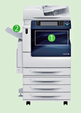 多方出紙盤 全錄彩色影印機 c5576r 富士全錄 彩印機c5576R fuji Xerox彩色複合機 c5576r 接紙盤2組