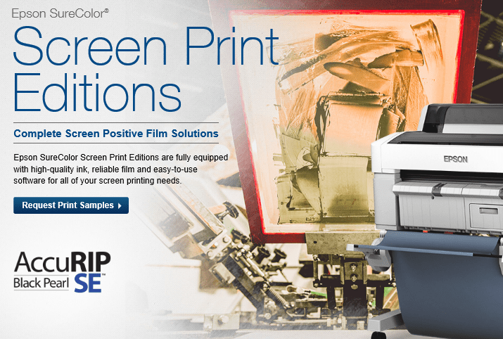 Epson Screen Print Editions of SureColor Printers Are Available