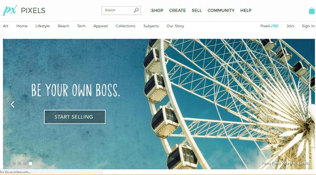 Pixels.com screenshot Be Your Own Boss