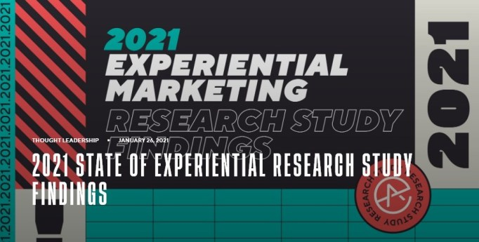 Agency EA 2021 Experiential Marketing Research Study Cover