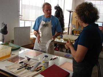 Liz Chalfin working with student