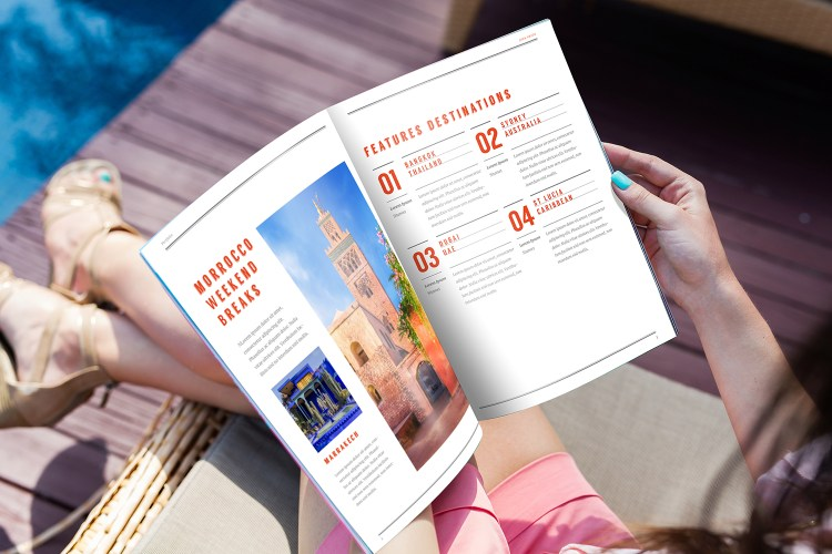 Perfect Bound Holiday Brochure