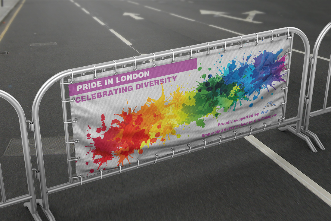 Pride Festival PVC Banner with Hemmed Eyelets