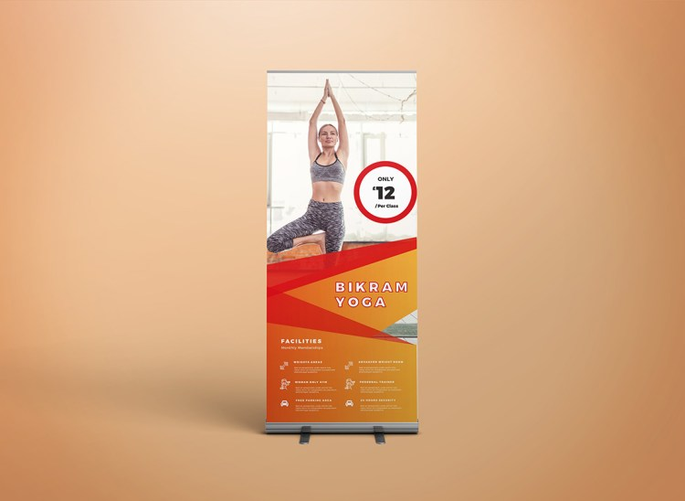 Single Roller Banner Pop Up Banner