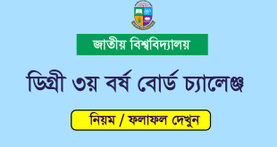 National University Degree 3rd Year Board Challenge Result