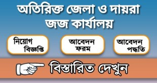 Additional District and Sessions Judge Office Job Circular 2020