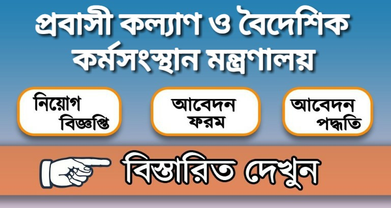 Ministry of Expatriates Welfare and Overseas Employment Job Circular 2020