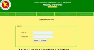 MOD Exam Question Solution 2021