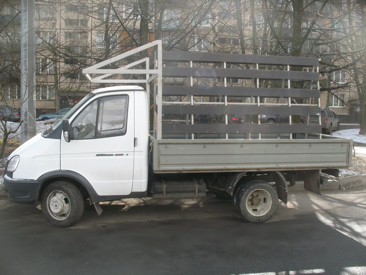 Газель для транспортировки стекол и стеклопакетов