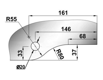 Фитинг верхний комплект T-120 SSS вырез