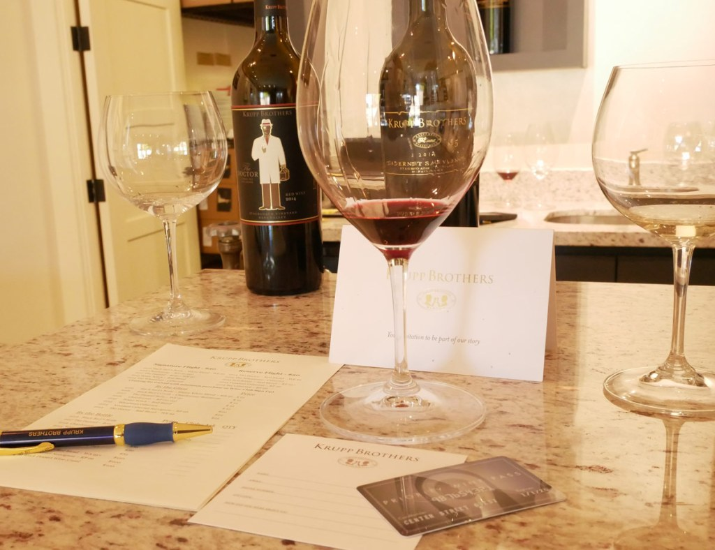 Using Priority Wine Pass at Krupp Brothers