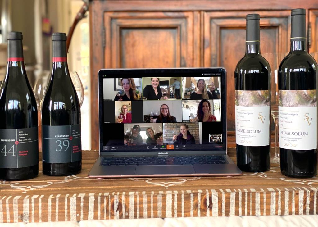 You and your friends can share a virtual tasting experience