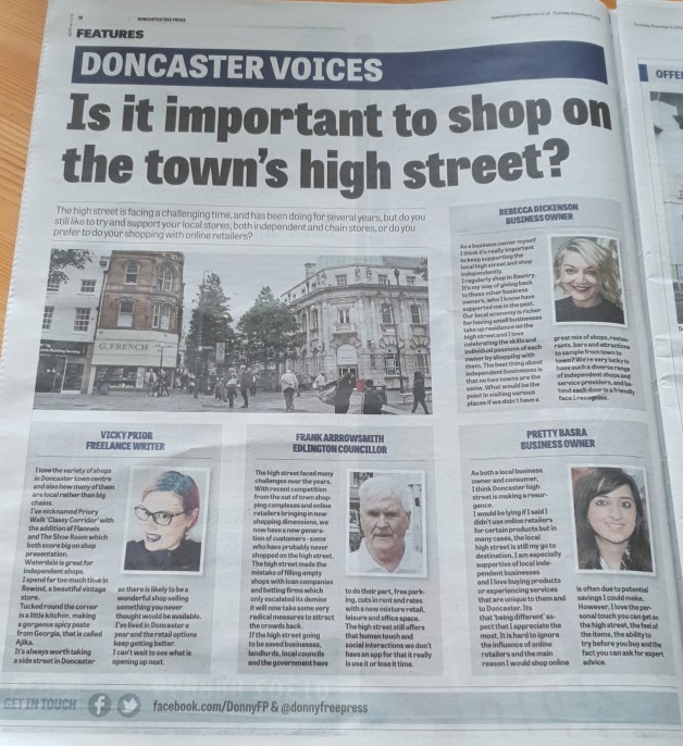 Page from Doncaster Free Press