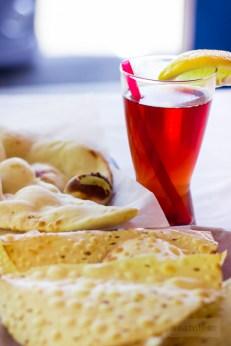 Mehak Indian Cuisine - Papdam and Naan with Ice Tea