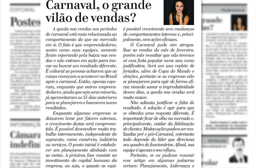 Carnaval, o grande vilão de vendas?