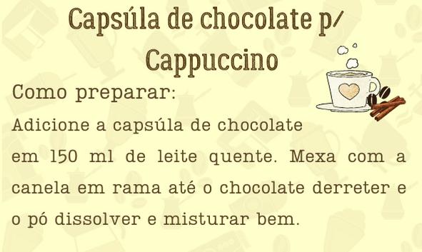 Etiqueta para cappuccino