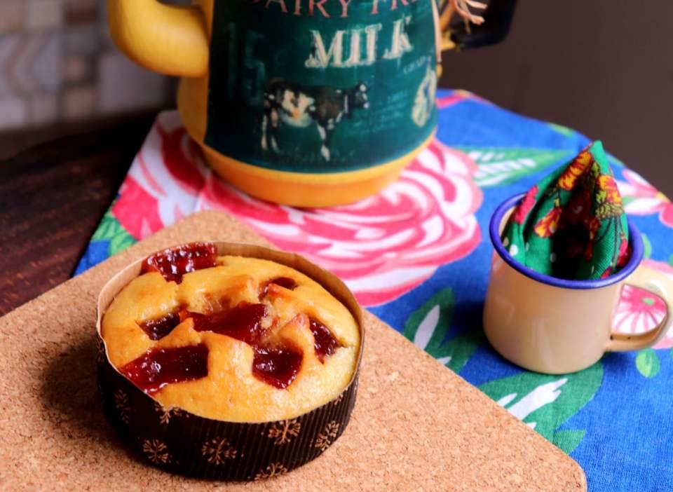 imagem mini bolo de milho com goiabada