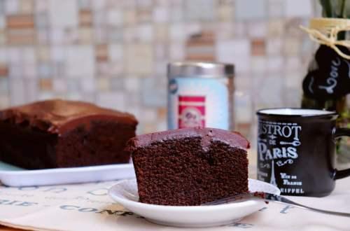 imagem bolo de chocolate com café