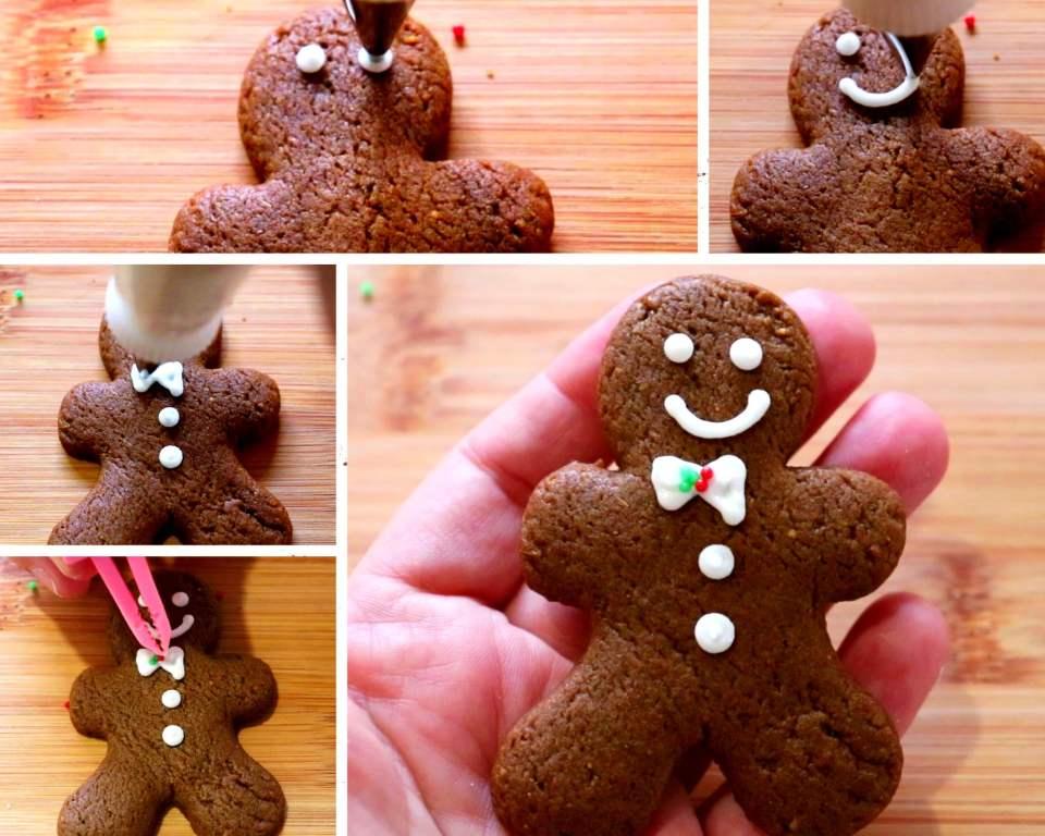 imagem passo a passo decorando biscoito