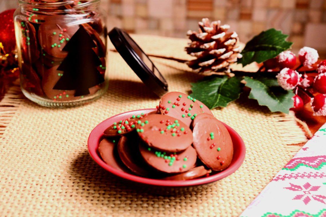 imagem de pastilhas de chocolate de menta