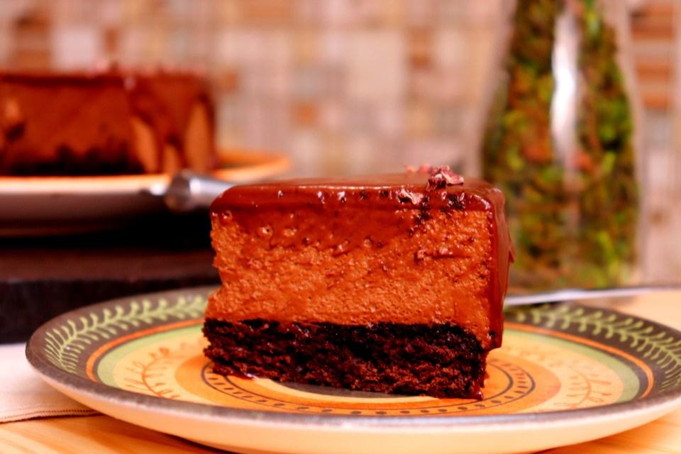 imagem fatia torta mousse de chocolate