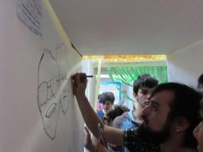Edgar, dibujando a los fundadores