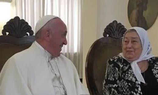 Papa Francisco y Hebe de Bonafini
