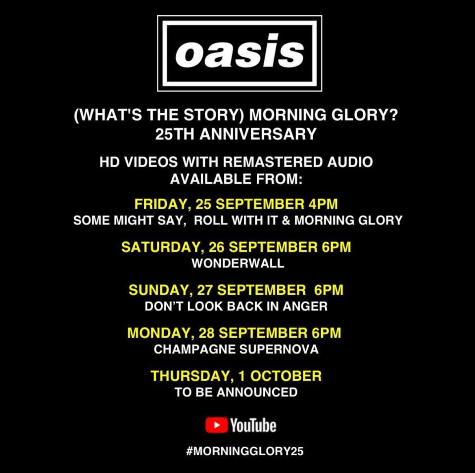 Aniversario de 'Whats the story (Morning glory)' de Oasis