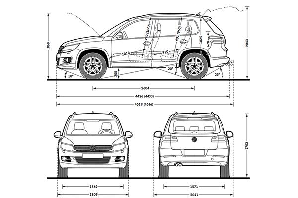 volkswagen touareg interior dimensions