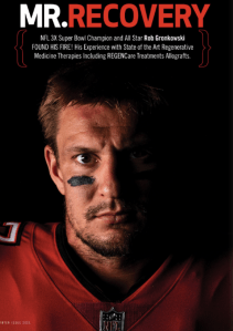 The Gronk on a Magazine Cover