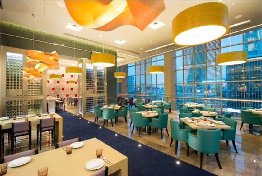Photo of restaurant at the Rotana Banader Bahrain's. Credit: GM Architects