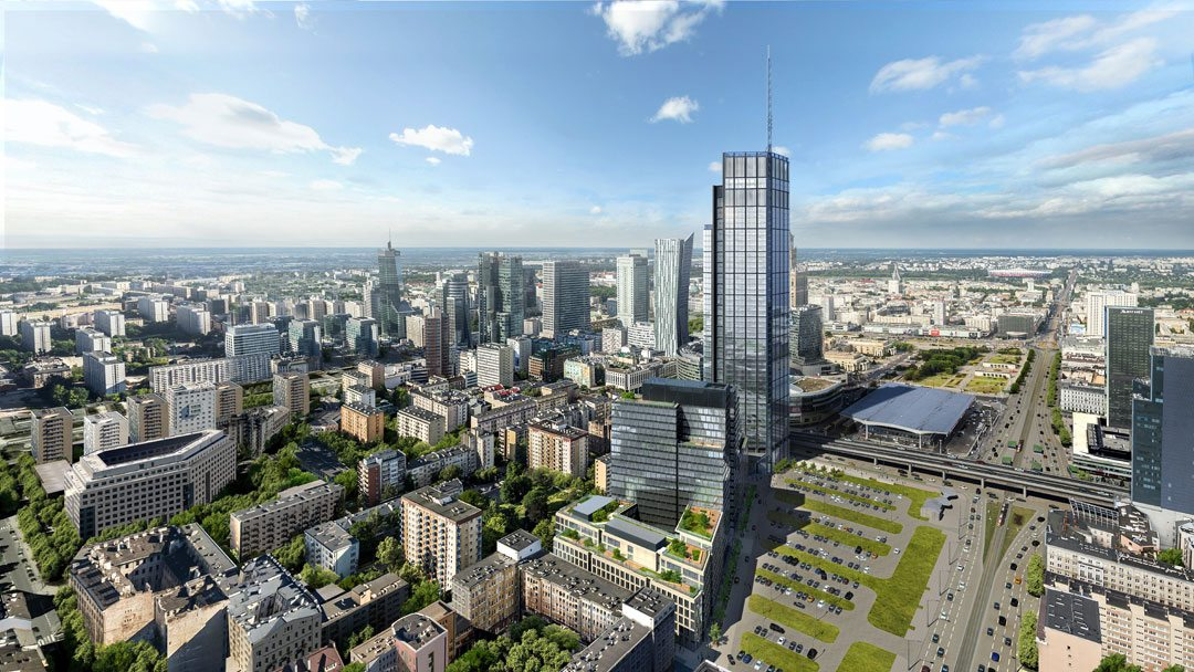 Construction begins on Varso Place and Poland's tallest building