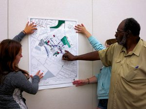 Community members map green infrastructure in a session for the Living Waters of Larimer project. Photo credit: Living Waters of Larimer