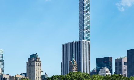 DURANAR coatings protect metal window grid on tallest condominium tower