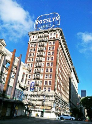 The Rosslyn Hotel, Los Angeles, CA. Courtesy of Highland Commercial Roofing