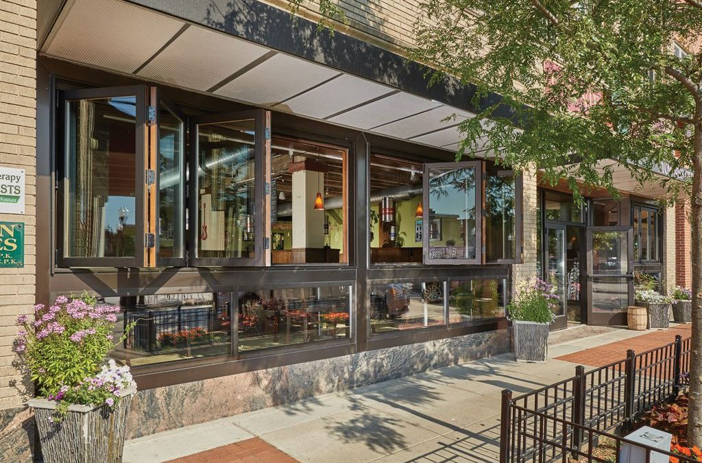 Historic building updates storefront with Kolbe Folding Windows