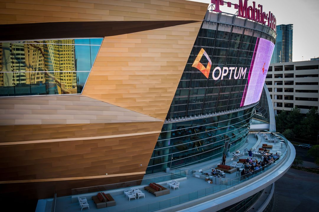 Vaslpar's Fluropon® Classic II coatings featured on T-Mobile Arena, Las Vegas. Credit: J. Rick Martin Photography