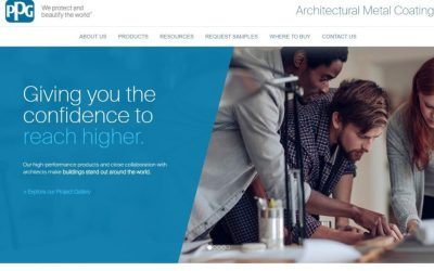 PPG launches new website for architectural metal coatings