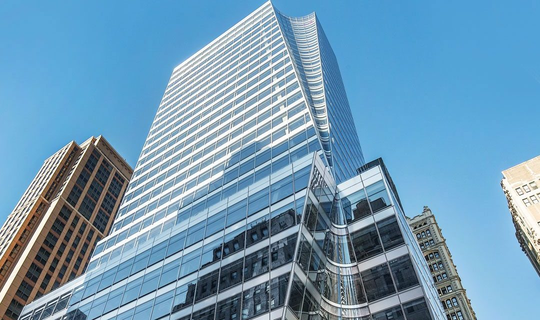 7 Bryant Park melds curved glass, stainless steel spandrels and transparent openings